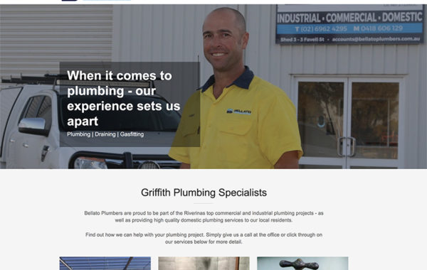 Bellato Plumbers Website